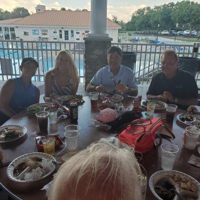 Golf team at dinner