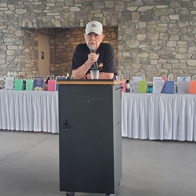 Bill Scheben giving speech